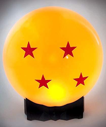 Dragon Ball Z Maxi Noche Crystal Light bola lámpara naranja de 4 estrellas con un cable USB