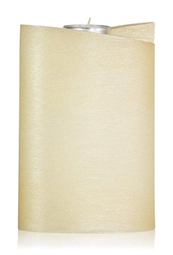 Wiedemann–Forma vela Ellipse con té luz Nácar superficie, cera, color crema, 18, 0x 13, 00X cm, 1unidades