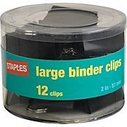Staples® Large Binder Clips, 2