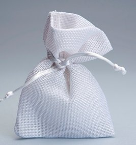 Set 30 pezzi , bomboniera sacchetto stoffa iuta 10x13 , portaconfetti (ck7022-30) (bianco)