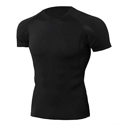 Männer Frühling Sommer Männer T-Shirts 3D Gedruckt Tier t-Shirt Kurzarm Lustige Design Casual Tops Tees Männlich,Stretch Fitness - C Schwarz 2XL -
