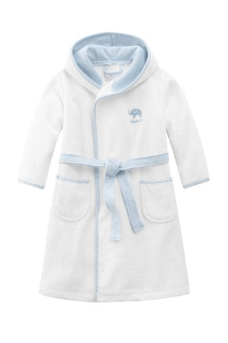 Bellybutton Kids Baby - Jungen Bademantel Bellybutton Kids Bademantel mit Gürtel, 10868-90604, Gr. 92, Mehrfarbig (white/light blue)