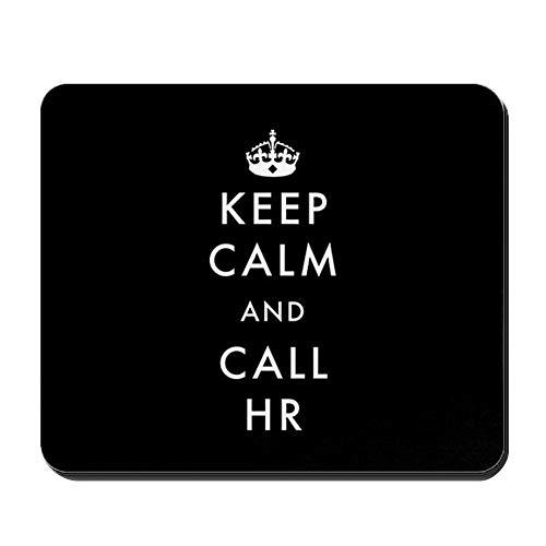 mfsore CafePress - Ruhe bewahren and Call HR - Rutschfestes Gummi-Mousepad, Gaming-Mauspad, 10 x 12 Zoll -