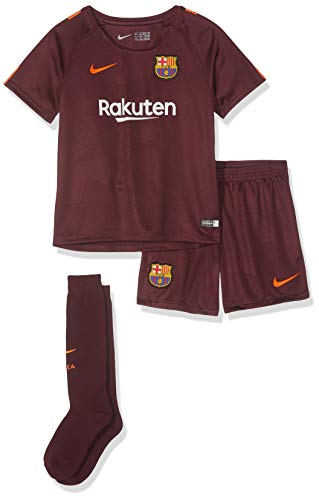 Brand new, official Barcelona Little Boys 3rd Mini Kit for the 2016 2017 La Liga season. This is the new FC Barcelona football kit which is available to buy online in a full range of kids sizes for ages 3-8 years. This soccer jersey is manufactured b...