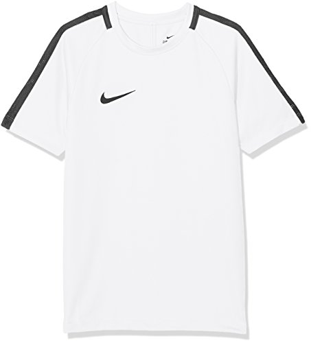 Nike Kids Dry Academy 18 Short Sleeve Top - White/Black/Black, X-Small
