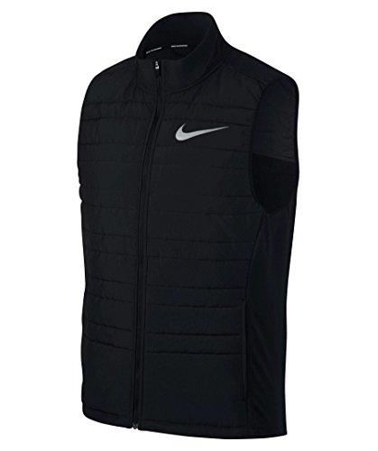 Nike Herren M Nk Filled Essential Vest Wattierte Weste Schwarz/Metallisches Silber