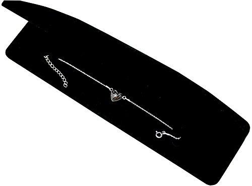 Crystals & Stones * black Patina * * Cuore * Bracciale da Donna-Argento Sterling 925con cuore di Swarovski Elements-Ideale come regalo per donna o ragazza