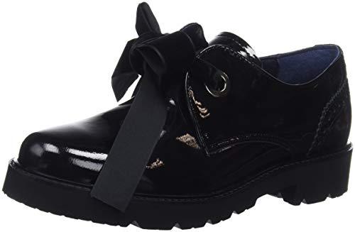 DORKING Venus, Zapatos Cordones Derby Mujer, Negro