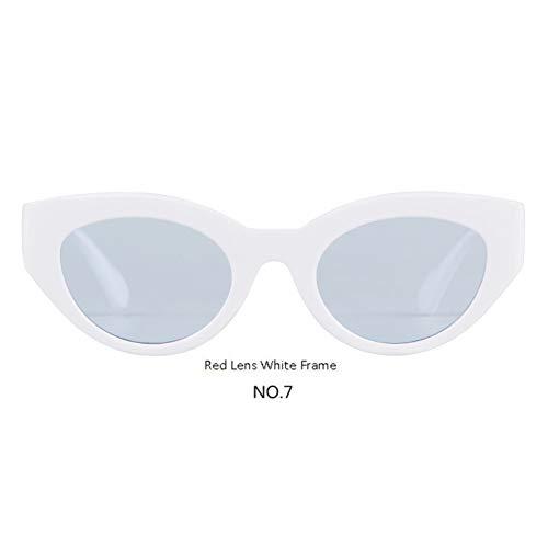 YOGER Sonnenbrillen Retro Übergroße Cat Eye Sonnenbrille Frauen 90Er Jahre Getönte Cateye Sonnenbrille Rot Rosa Blau Shades