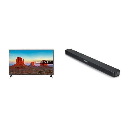 LG 65UK6300PLB 65-Inch UHD 4K HDR Smart LED TV with Freeview Play and LG SK5 Soundbar