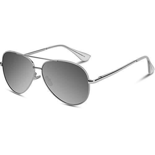 VVA Gafas sol Hombre Polarizadas Aviador Hombres Aviador