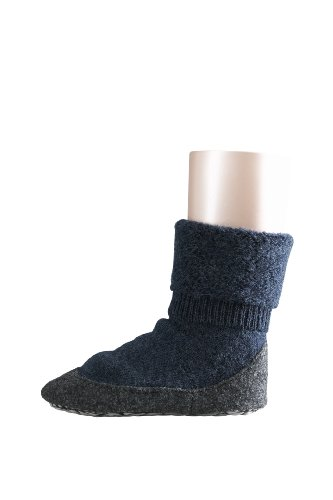 FALKE Unisex - Kinder Socken 10560 Cosyshoe Homeshoe, Gr. 37/38 Blau (dark blue mel. 6680)
