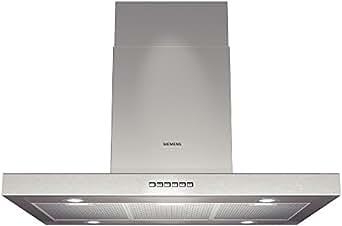 Siemens LF96BA530 hotte - hottes (Conduit / Recirculation, 450 m³/h, 52 dB, Mural, Halogène, Acier inoxydable)