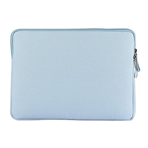 YiJee Wasserdicht Sleeve Laptoptasche Notebookhülle Zubehörtasche für MacBooks 13.3 Zoll Hell Blau 1