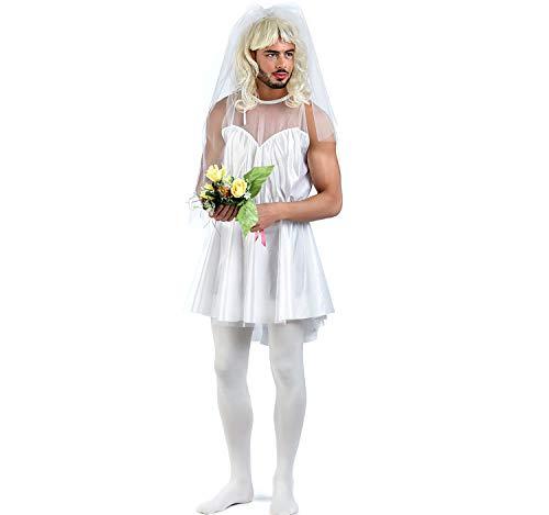 Limit Sport Herren Kostüm Männerballett männliche Braut Junggesellenabschied weiß Karneval Spass-Kostüm (XL) (Karneval Kostüm Männlich)