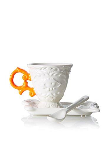 'Set de Caffe' en porcelaine I-Wares avec manche – Orange