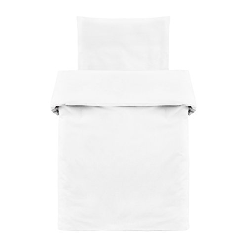 Makian - Funda Nórdica 80x80 cm y Funda Almohada 35x40 cm - Ropa de cama para Minicuna y Moisés, 100%...