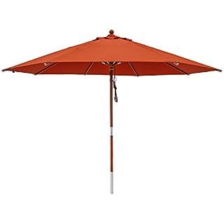 anndora® Sonnenschirm Gartenschirm 3,5 m rund - UV Schutz + Winddach Terracotta