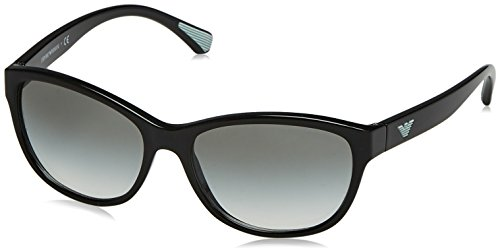Emporio Armani Damen 0ea4080 Sonnenbrille, Schwarz (Black), 57