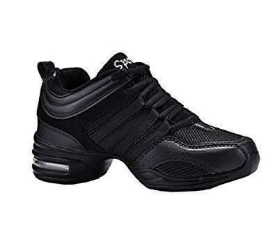 Dayiss® Mädchen Damen Modern Tanzschuhe jazzdance schuhe Tanz Sneaker Websneaker weichen Sohle Sport Schuhe Fitness Schuhe Halbschuhe Schürschuh Freizeitschuhe Turnschuh (41-Fußlänge 255mm, Schwarz)