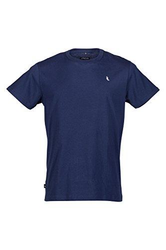 Trendige Herrenmode by Little Lou I Herren T-Shirt Kurzarm Rundhals-ausschnitt Regular Fit Shortsleeve Uni-Farben Einfarbig T Shirt Herren Dunkelblau Men Streetwear