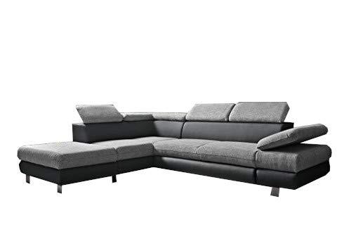 mb-moebel Ecksofa Eckcouch mit Bettkästen mit Schlaffunktion Couch Wohnlandschaft L-Form Polsterecke Peru