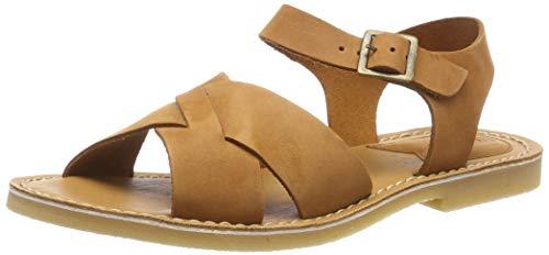 Kickers Tilly, Sandalias de Punta Descubierta para Mujer, Marrón Camel Brun 116, 38 EU
