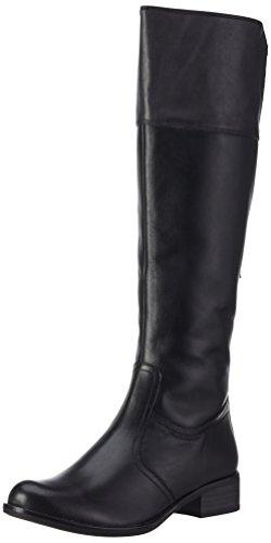 Caprice 25501, Stivali da Equitazione Donna Schwarz (BLACK/GREY 25)