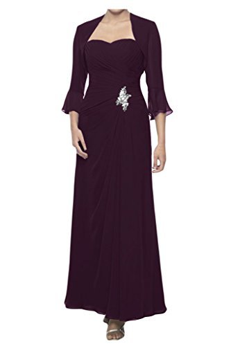 TOSKANA BRAUT - Robe - Trapèze - Femme Violet - Traube
