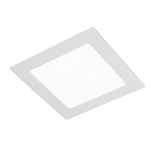 CristalRecord 02-107-18-400 - Foco downlight, LED extraplano, cuadrado, 20 W, luz neutra, 4000° K, color blanco