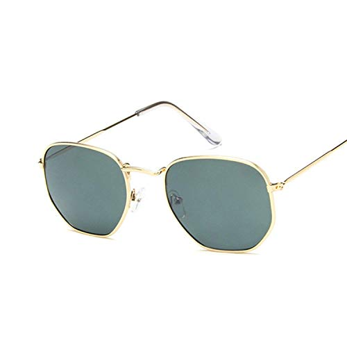 WERERT Sportbrille Sonnenbrillen Polygonal Sunglasses Women Glasses Lady Retro Metal Sun Glasses Female Vintage Mirror Feminino Uv400