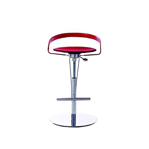 ZHyizi Hohe Hocker, Barhocker, Ergonomie Moderne Mode minimalistischen Stil Lift Rotierenden verstellbaren Drehstuhl Komfortable und Starke Büro Küche Frühstück Stuhl Haushalt Möbel (Farbe : Red) (Garten Frühstück Kissen)