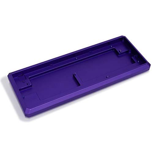 Diamond 60% CNC eloxiertes Aluminium Gehäuse für 60% 64 mechanische Tastatur für GH60 Bluetooth Gk61 GK64 DZ60 YD60MQ Purple case GK61 Black Plate