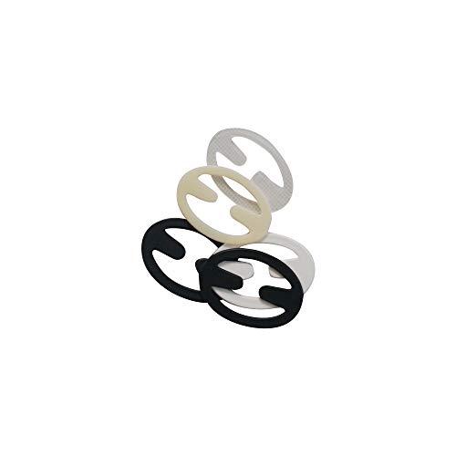 Anjing BH-Klammer, Rutschfest, unsichtbar, 100 Stück, zufällige Farbe Oval
