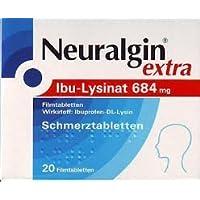 Neuralgin extra Ibu-Lysinat Schmerztabletten Spar-Set 5x20Tabletten, einzunehmen bei leichten bis mäßigen Schmerzen... preisvergleich bei billige-tabletten.eu