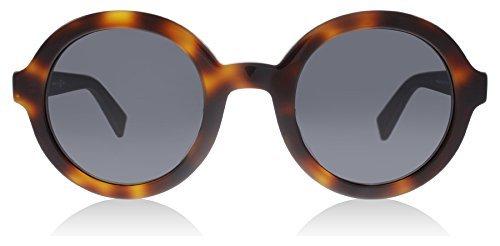 Max Mara mm Tailored III IR LTY, Gafas de Sol para Mujer, Negro (Havana Black/Grey Blue), 48