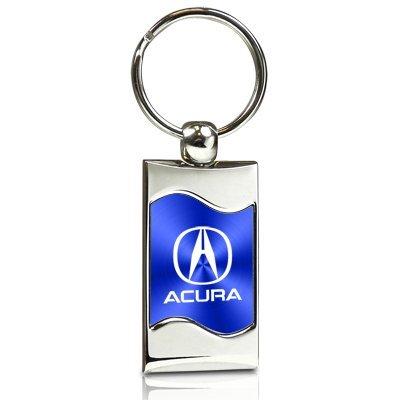 acura-blue-spun-brushed-metal-key-chain