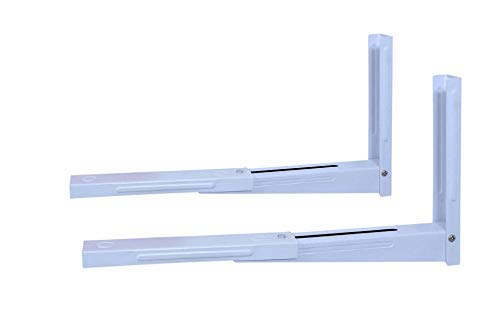 Avekin® Strong and Heavy Universal Foldable White Stretch Shelf/Rack/Wall Mount/Bracket for Microwave Oven OTG (White, Pack of 1)