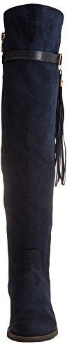 Xti 030446, Bottes Plissées Femme Bleu (bleu marine)