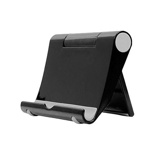 6SlonHy Universal 270 Grad Faltbarer Klebstoff Desktop Handy Tablet Halter Ständer Halterung Schwarz Regulär -