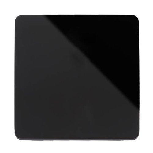Blanking Plate (Trendi Artistic Modern glänzend Taktile Single Blanking Plate Schwarz Art-blkbl)