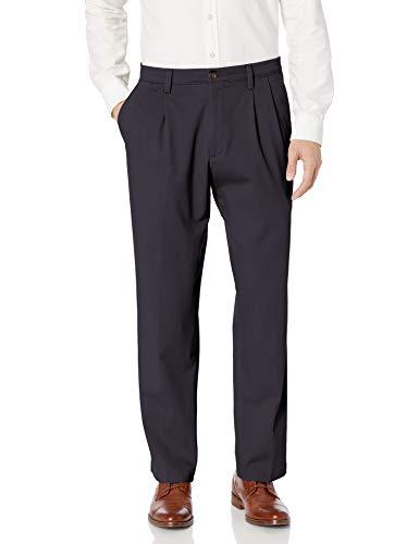 Dockers - Pantalones Hombre Azul Marino elástico