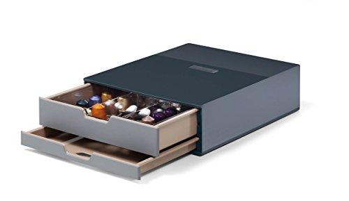 Durable 338358 Coffee Point Box S Aufbewahrungsbox (mit 2 Schubladen für Kaffee/Tee, Cateringbox für Kaffeestation/Büroküche) anthrazit