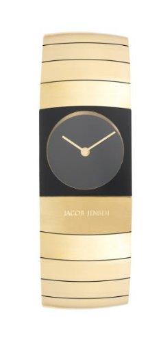 JACOB JENSEN 583 - Reloj (Reloj de pulsera, Femenino, Titanio, Negro, Titanio, Oro)