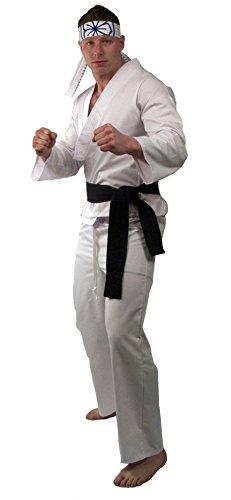 Erwachsene Kid Karate Für Kostüme (The Karate Kid Daniel Herren Kostüm (Erwachsene)