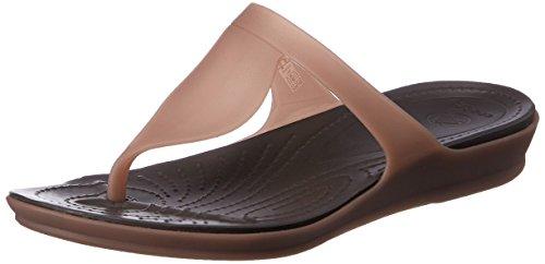 062a271a3d22 Crocs Women s Crocs Rio Flip W Bronze and Espresso Rubber Flip-Flops and  House Slippers