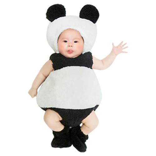 Zoylink Baby Panda Kostüm Set Hut Strampler Schuhe Kleinkinder Kleidung für - Panda Kostüm Für Kleinkind