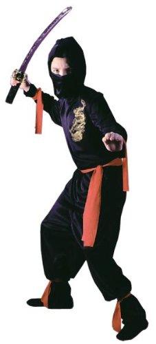 Kost-me f-r alle Gelegenheiten FW8707LG Schwarz Ninja Kind (Ninja Kostüme Purple)