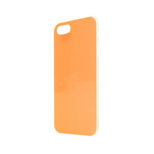 Xqisit iPlate Style Case pink Schutzhülle, Hardcase für iPhone 5 / 5S Orange ( Neon )