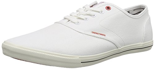 JACK & JONES Herren JJSPIDER CANVAS SNEAKER BRIGHT WHITE Low-Top, Weiß), 43 EU